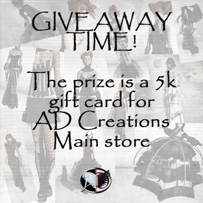 Giveaway time - AD Creations - gift card